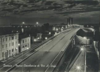 Nuovo Cavalcavia di Via A.Saffi Cartolina viaggiata 13/12/1962