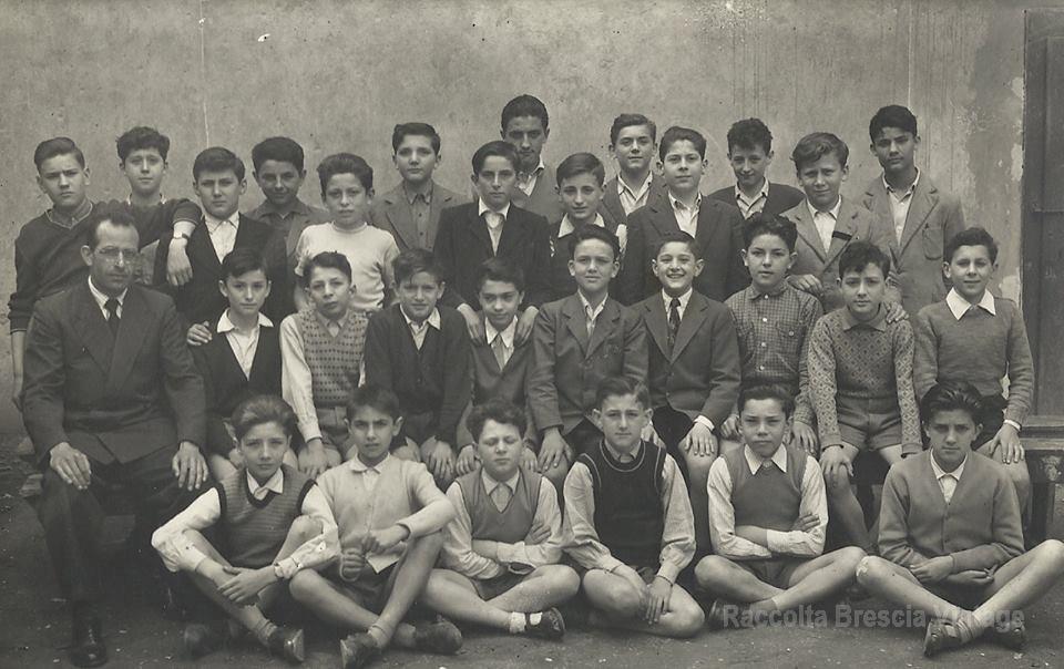 Classe I° F - Scuola media Romanino Brescia 1952