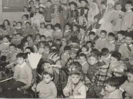 """""""Era carnevale ed io sono il primo in alto a destra"""", 1962-63 asilo Sacro Cuore, via Luzzago Brescia."""