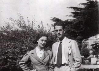 Mio zio nei giardini di Brescia il giorno del suo matrimonio - 1939