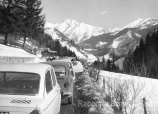 In coda per San Colombano, inverno 1965-1966, Val Trompia