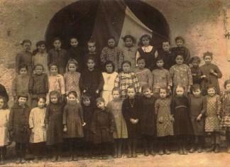 Le scolarette di Cologne con la maestra Rina - Cologne 1925