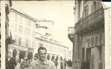 In motorino in Corso Zanardelli - 1950
