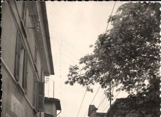 Via Fontane con i filobus - Mompiano, Brescia anni 60