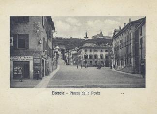 Piazza della Posta - Brescia primi del 900