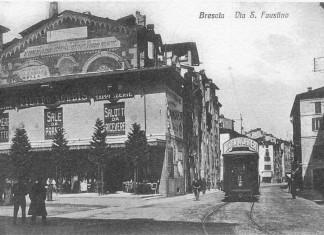 Tram in via San Faustino - Inizi del 900 - Brescia
