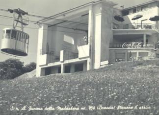 Stazione superiore funivia Monte Maddalena - Brescia 1960