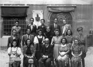 IV corso serale commerciale - foto diplomandi anno 1942