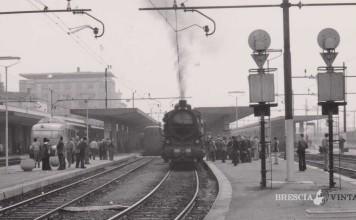 """""""Locomotiva a vapore in partenza"""" - Brescia 1976"""