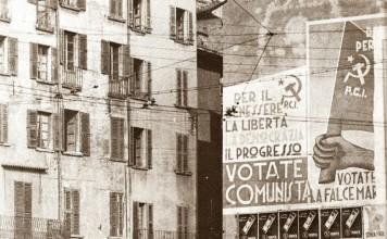 """Manifesti politici di fine anni '40"" - Piazza Rovetta"