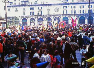 carnevale a Brescia nel 1986