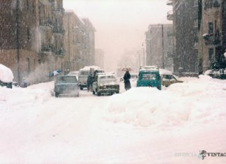 Grande nevicata Via Armaioli Brescia