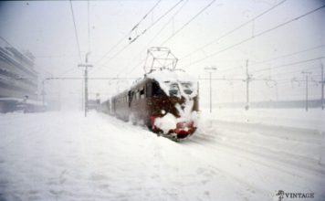 Stazione Brescia grande nevicata 1985