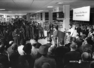 Inaugurazione del primo supermercato di Brescia, la Rinascente (1972)