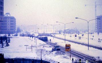 Grande nevicata in via Cefalonia Brescia
