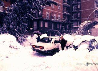 Grande nevicata 1985 in Via della Palazzina a Brescia