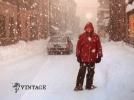 Via Cremona grande nevicata 1985