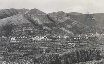 Panorama di Concesio preso dalle colline di S.Vigilio. (cartolina anni '50)