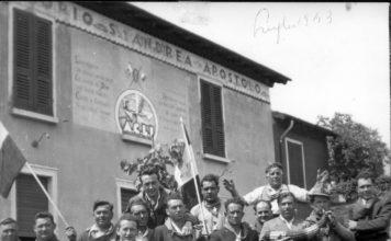 Vecchia sede ACLI a S.Andrea di Concesio - luglio 1953