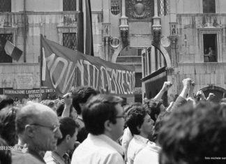 Manifestazione per l'anniversario della strage di Brescia