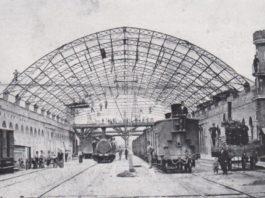 Stazione di Brescia nel 1875