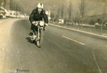 in moto in via Triumplina anni 60