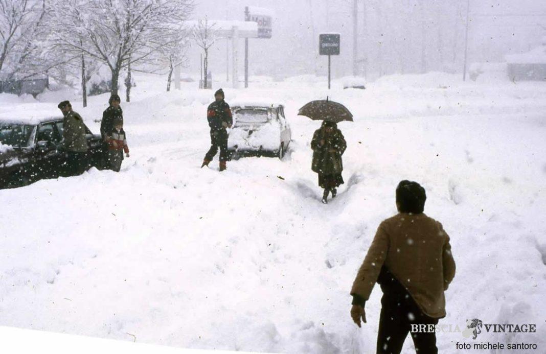 Grande nevicata a Brescia 2