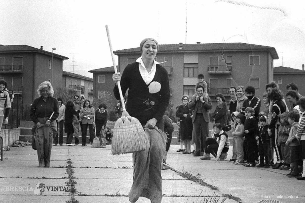 Corsa nel sacco, scuola Pendolina. 1979