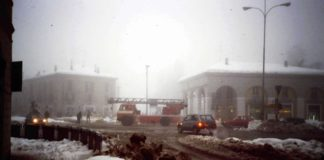 Pompieri a Porta Venezia durante il Big Snow
