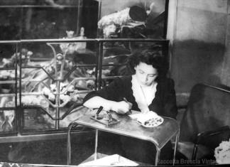 Marina (...mia mamma) nel negozio Gritta di c.so Zanardelli ...fine anni '40 !