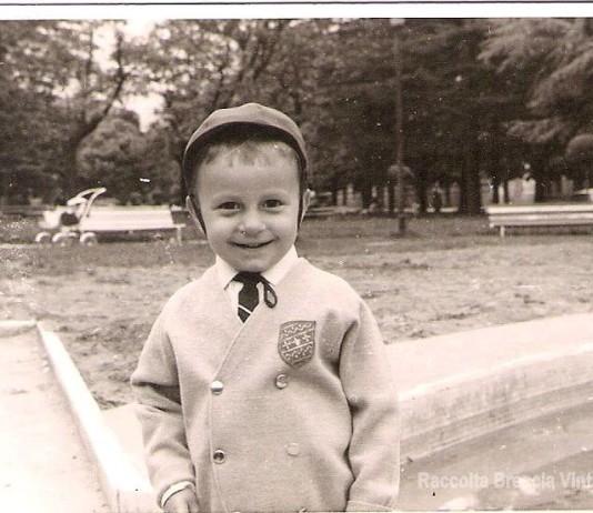 """""""Io a tre anni ai giardini di via dei Mille"""", 1964."""