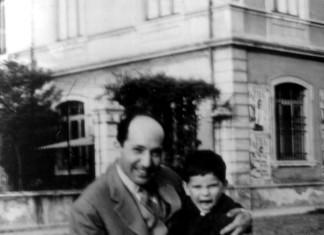 ...io con papà nei giardini di via XX Settembre ...1960 !
