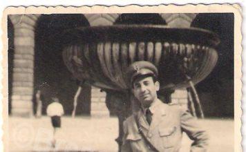 Papà in servizio negli anni 50
