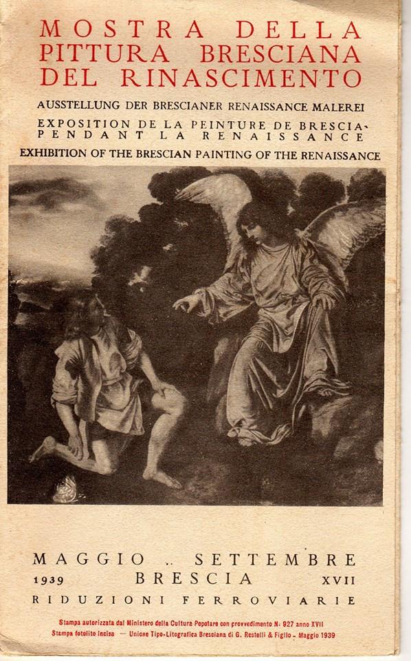 Depliant del 1939 che pubblicizza la Mostra