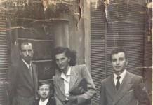 """""""Mamma, babbo e il mio zietto a passeggio in c.so Magenta"""", 1946."""