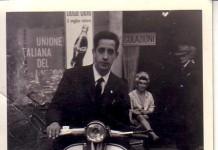 Mio zio Gianni al Carmine con la sua Lambretta
