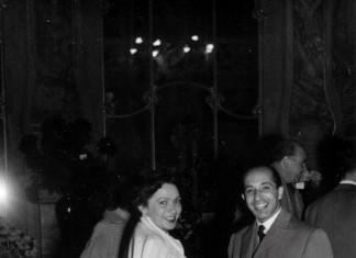 mamma e papà nel ridotto del teatro Grande ...1954