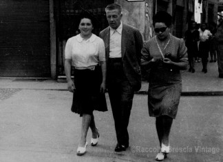 Marina e Monica Gritta con zio Piero ...primo dopoguerra.