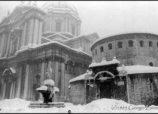 Il Duomo durante la grande nevicata del 1985