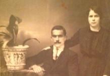 """""""I genitori di mia zia nel giorno del loro matrimonio"""", 1919 zona Costalunga in via del Lazzaretto."""