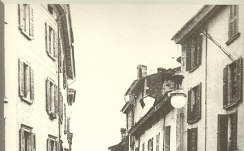 Corso Palestro, fotografia anonima del 1910 - Archivio fotografico dei Musei - Inserto Brescia Oggi.