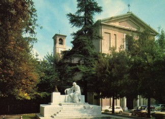 Chiesa di S. Maria Calchera e Monumento a Nicolò Tartaglia - Cartolina anni 60