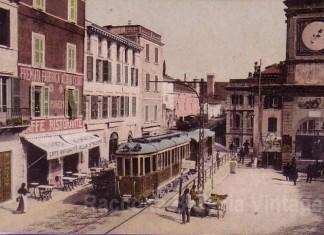 Mezzo di trasporto prima del 1° terremoto di Salo', Passaggio a Salo' del Tram- Gargnano- Brescia.