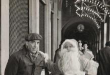 Con papà e Babbo Natale - Piazza Loggia 1962