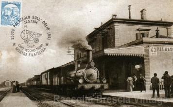 Vecchia locomotiva a vapore della linea ferroviaria Brescia - Bergamo