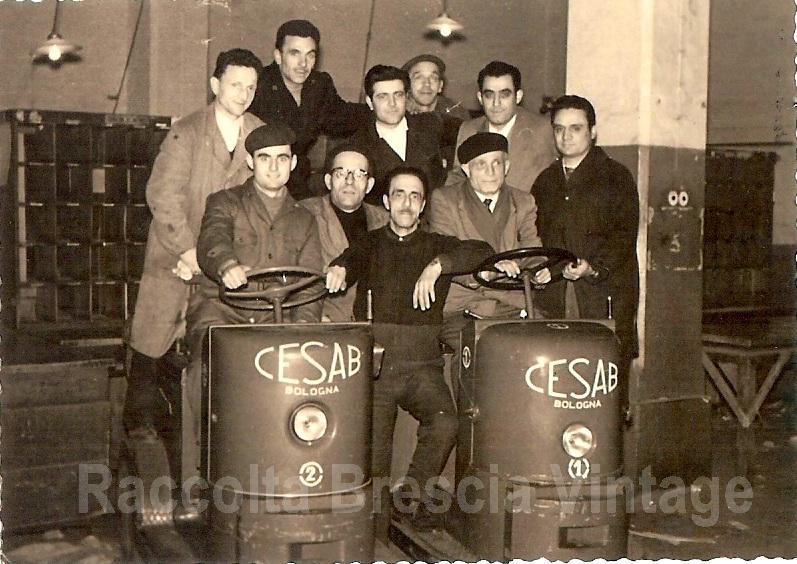 Compagni di lavoro - Deposito delle Poste Italiane 1950/60