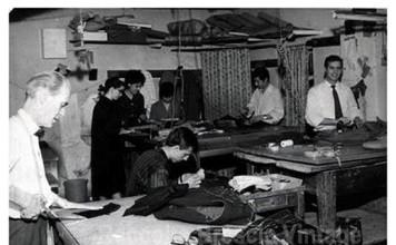Mio nonno nella sua sartoria in corso Zanardelli
