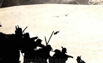 Alpini al campo invernale in Adamello - 1933