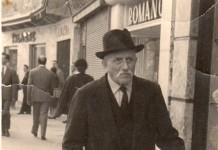 Nonno Gritta a spasso in c.so Zanardelli - primi anni '50