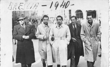 Mio padre con amici a me sconosciuti - Brescia 1940